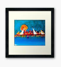 A happy sail Framed Print