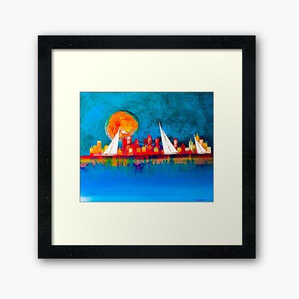 A happy sail Framed Art Print