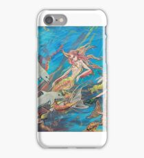 Mermaid and Dolphins iPhone Case/Skin