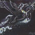 Winged Unicorn of the Stars by Stephanie Small
