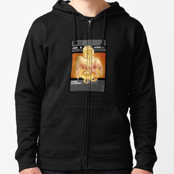 Scygon Elemental Card #8: Gold Zipped Hoodie