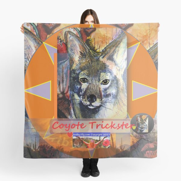 Coyote Trickster Scarf