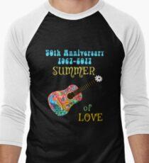 50th Anniversary Summer of Love Peacock Guitar Hippie Design T-Shirt