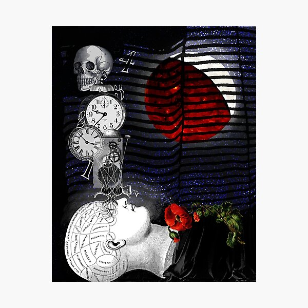 Tick-Tock Insomnia Digital Collage Photographic Print