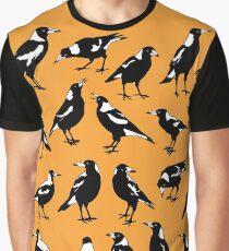 MAGPIES - Australian native birds (orange and tan) Graphic T-Shirt