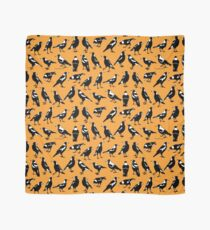 MAGPIES - Australian native birds (orange and tan) Scarf
