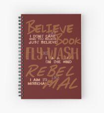Believe Like Book Spiral Notebook