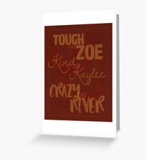 Tough Like Zoe Greeting Card