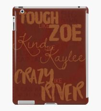 Tough Like Zoe iPad Case/Skin