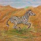 Racing Zebra by Stephanie Small