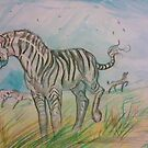 Zebras in the Wild by Stephanie Small