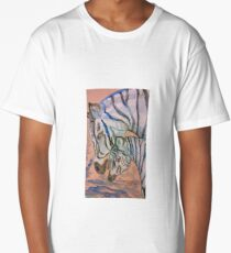 Zebra Mare and Foal Long T-Shirt