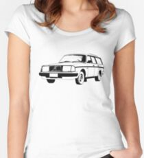 Volvo 240 Wagon Women's Fitted Scoop T-Shirt