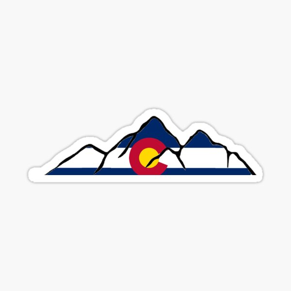 Colorado Mountain outline Sticker