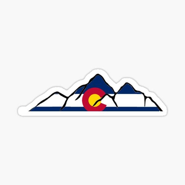 Colorado Mountain outline Sticker