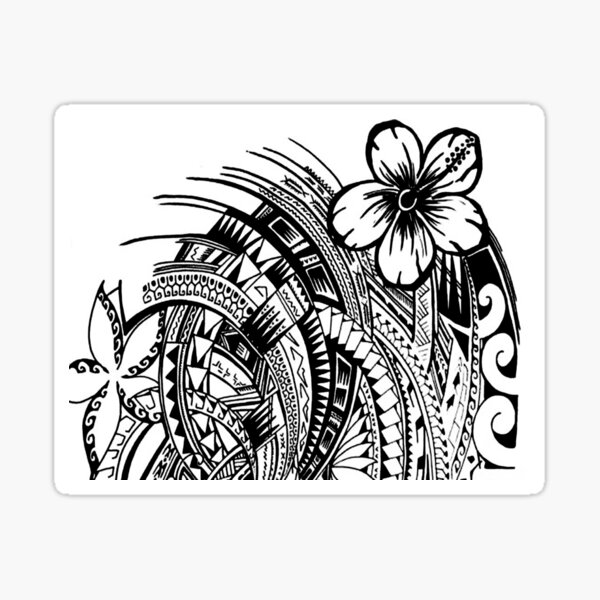 Polynesian Flower Sticker
