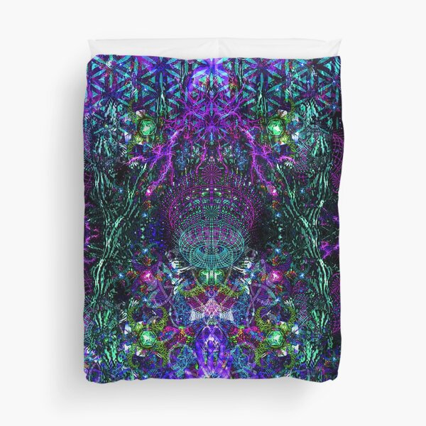 Hands To The Cosmos Duvet Cover