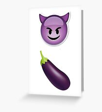 Evil Dick Greeting Card