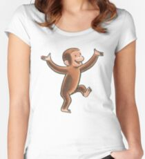 Curious George  Women's Fitted Scoop T-Shirt