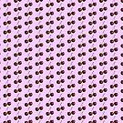 Red Cherry Pattern Dress - Cherries Sticker  by deanworld