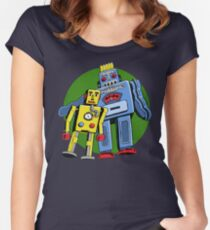 Retro Robots Fitted Scoop T-Shirt
