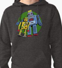 Retro Robots Pullover Hoodie