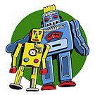 Retro Robots by pencilfury