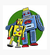 Retro Robots Photographic Print