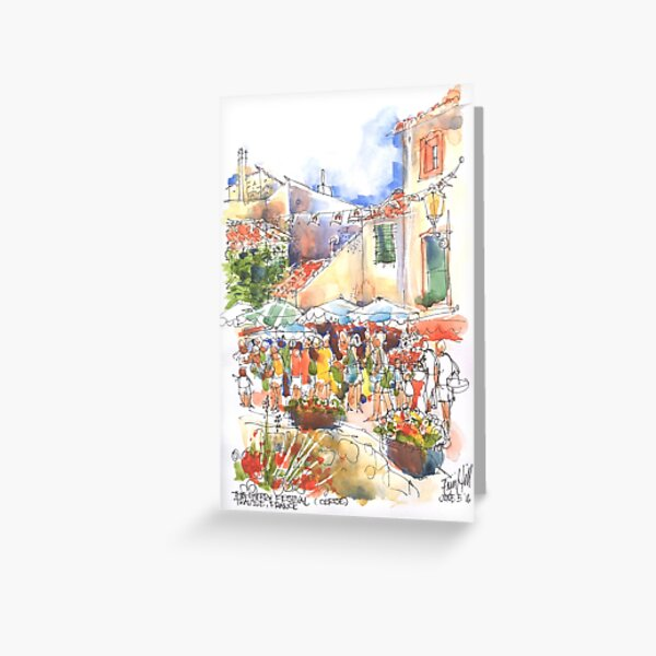 The Cherry Festival, Trausse France Greeting Card