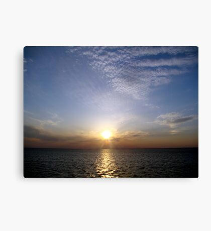 Sunset on Lake Ponchartrain Canvas Print