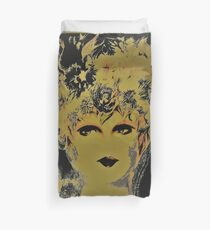 BLACK AND GOLD GIRL,,House of Harelquin Duvet Cover