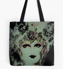 BLACK AND CREAM FLOWER GIRL,,,House of Harlequin Tote Bag