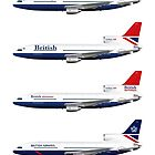 British Airways TriStar 500 1979 to 1988 by © Steve H Clark
