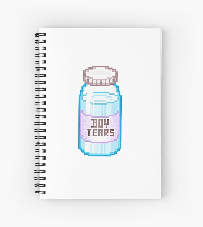Tumblr Boy Tears Spiral Notebooks By Rhishiplarry Redbubble