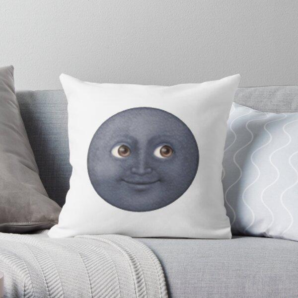 Moon Face Throw Pillow