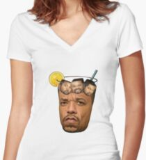 Ice cube & Ice T Women's Fitted V-Neck T-Shirt
