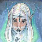Elf with Crystal by Stephanie Small
