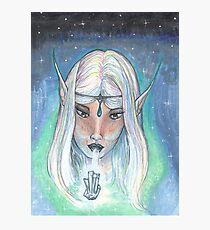 Elf with Crystal Photographic Print