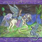 Faery Riding Unicorn by Stephanie Small
