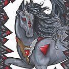 Black Bat Winged Horse by Stephanie Small