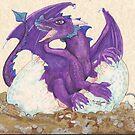 Purple Hatching Dragon by Stephanie Small