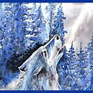 Wolf Howling by Stephanie Small