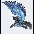 Bluebird Pegasus by Stephanie Small