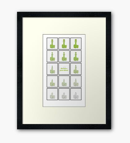 Green Thumb VRS2 Framed Print