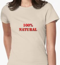 100% Natural Womens Fitted T-Shirt