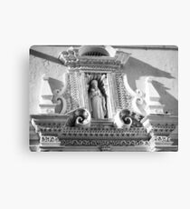 Beautiful Stucco Patterns over the entry of La Merced Convent in Antigua Canvas Print