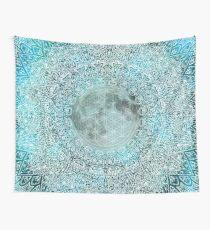 Luna Magic Blue & White Moon Mandala Wall Tapestry