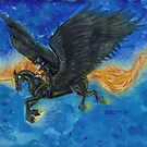 Winged Unicorn Racehorse by Stephanie Small