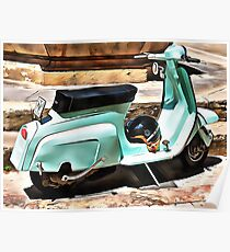 The Blue Lambretta Poster