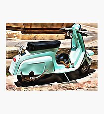 The Blue Lambretta Photographic Print